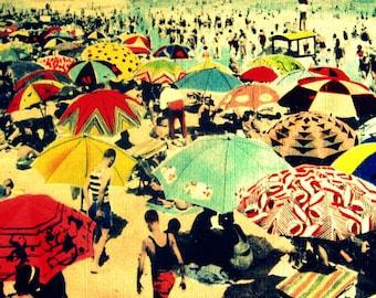 Vintage beach art, Art Deco beach umbrellas print, Beach House Gifts, Coastal  Gift, Beach Lovers Gift Mom gifts, vintage beach art print