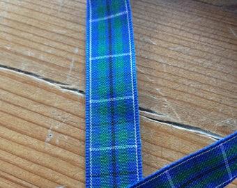 Tartan Ribbon. Douglas Modern tartan. 16mm width available. Price per metre