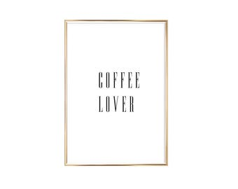 "Poster | Print | Art print ""Coffee Lover"""