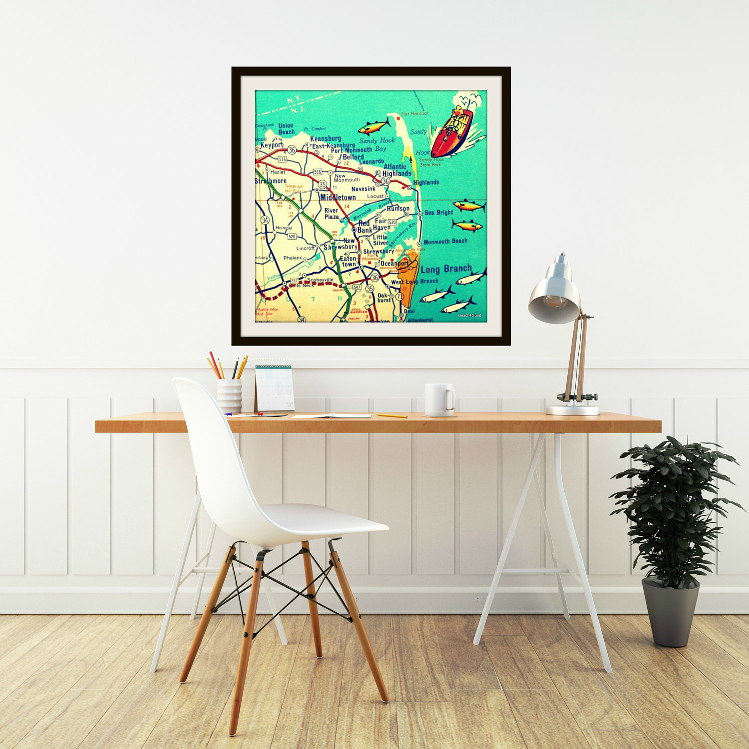 Jersey shore map travel gift new jersey gift vintage sandy request a custom order and have something made just for you negle Choice Image