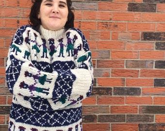 Vintage Cream Ski Sweater