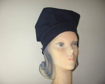 1960's Navy Wool Bubble Beret, Betmar Label!