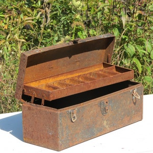 Rusty Crusty Old Metal Toolbox
