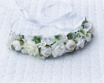 Childs flower crown - white