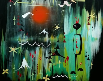 Forest Parade -Original Painting Shipped Free