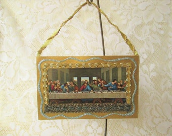Last Supper Ornament / Renaissance Ornament / Cardboard