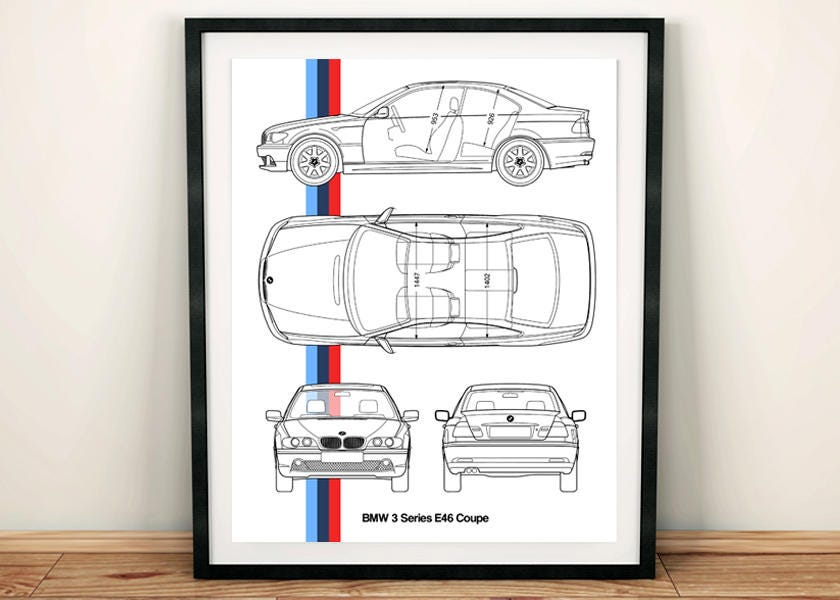 BMW 3 Serie E46 Blaupause BMW-Dekor E46 Coupe Instant
