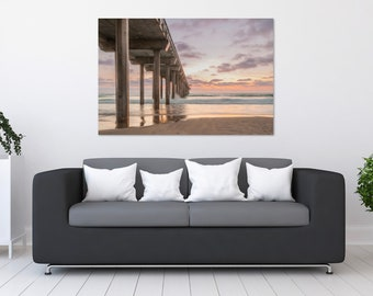 California Pier Sunset Photo Print | Wall Art | Nature and Landscape Photography | (5x7, 8x10, 12x18, 16x24, 20x30, 24x36, 40x60)