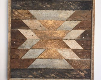 Reclaimed Wood Art - Aztec Bronze