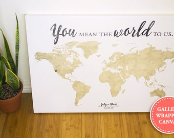 World map wedding guest book you mean the world to us world map wedding guest book guest book alternative you mean the world to us gumiabroncs Choice Image
