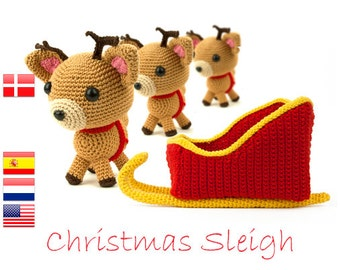 Crochet pattern Christmas Sleigh