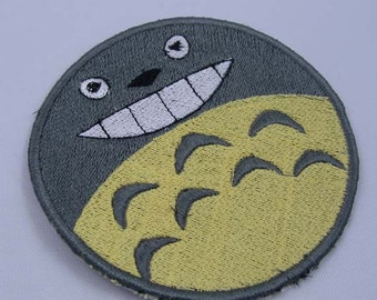 Totoro Anime Machine Embroidered Iron on OR Sew on Patch