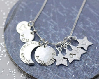To The Moon And Back Sterling Silver Necklace