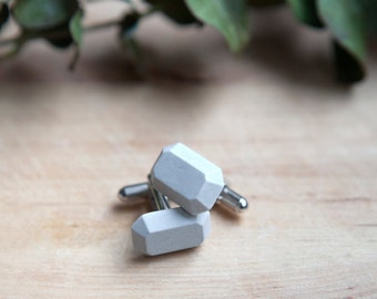 Concrete Cufflinks (light)