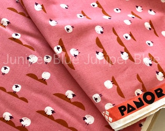 Sheep Coral- Panorama Collection, Cotton + Steel, Quilting Weight Cotton