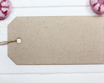 50 St. 55 x 110 mm gift tags - natural