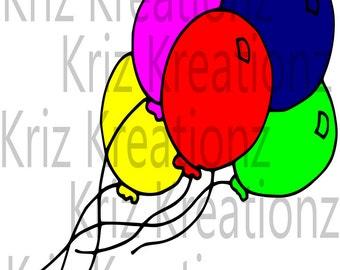 Balloons SVG Cut File
