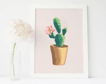 Cactus print, cactus art, succulent print, cactus wall art, succulent art, cactus watercolor, succulent wall art, botanical print