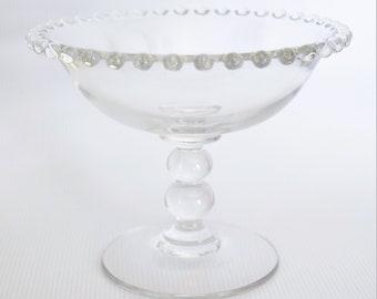 Imperial Candlewick pedestal dish