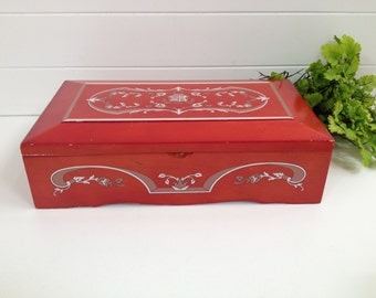 Red jewelry box Etsy
