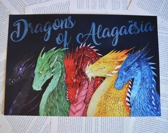 "Dragons of Alagaësia Art Print 18""x12"" Poster"
