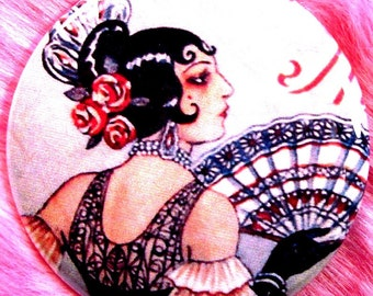 Pocket Mirror - Spanish Flamenco Dancer - Gypsy Carmen