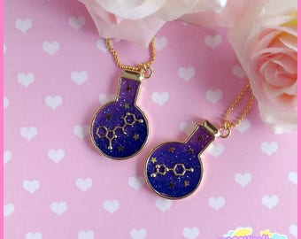 Chemical necklace cute and kawaii cosmic