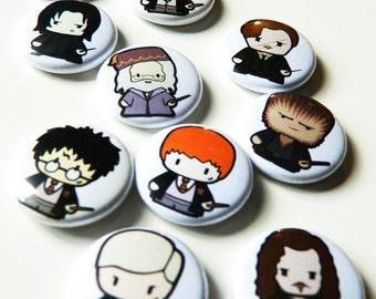 Wizard Harry & Friends! Pin Badges Buttons