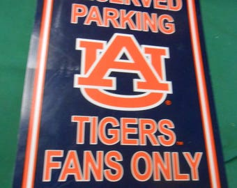 AUBURN University Parking Sign