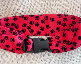 Dog Cooling Bandana Fabric Neck Cooler Collar Band Buckle Adjustable Size Large 18 to 22 inch Red iycbrand