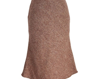 NWT Burberry London vintage brown skirt wool size 40 pencil made in Uk