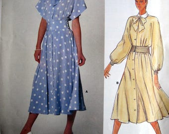 Vintage Vogue ALBERT NIPON  American Designer  Flared Dress Pattern 1375 Sz 14 Uncut