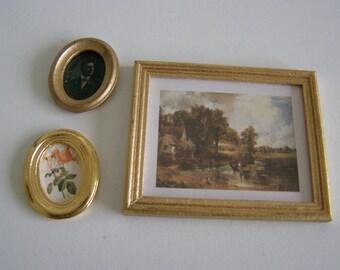 set of 3 miniature nine frames