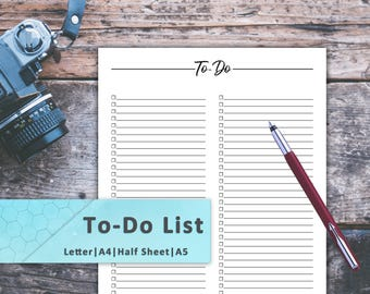 To-Do List, To Do Printable, To Do Planner, To Do Download, To Do PDF, To Do Notebook, To Do Notepad, Tasks, Planner Inserts, Lists, Tracker