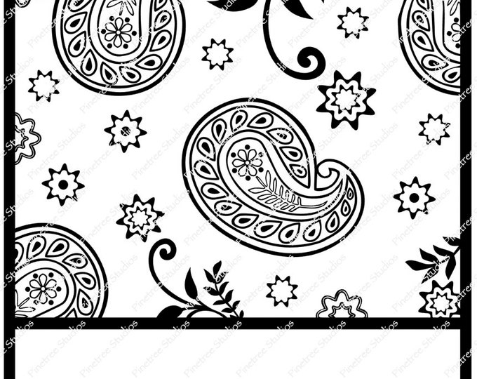 Paisley Design SVG Digital Download / Cuttable / Clip Art / Stencil / Silhouette / Cricut / Printable / Color Book / Decal / Canvas Bag