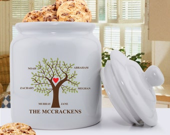 Personalized Traditional Family Tree Ceramic Cookie Jar - Ceramic Cookie Jar -  Cookie Jar - Kitchen Decor - GC1418 TRADITIONAL