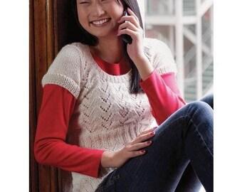 Sleeved Eyelet Top Knitting Pattern Download 803041