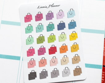 Shopping Bag Regular size (matte planner stickers, perfect for planners)