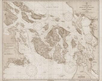San Juan Islands Map - 1933 (sepia)