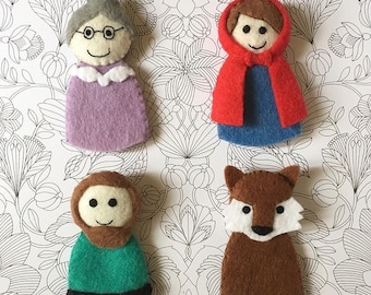 Fairytale Finger Puppets∶ Little Red Riding Hood life toys