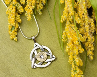 Bullet Casing Jewelry - Celtic Knot Bullet Necklace (40)