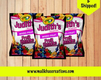Crayola Inspired Fruit Snacks/Crayola Party/Crayola Party Favors