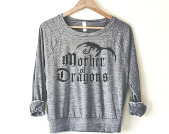 Mother of Dragons Women's Pullover by So Effing Cute - USA - inspired by Game of Thrones
