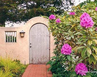 Digital Download Door with Flower Photo Print, Botanical, Flower Photography