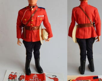Vintage 1960s Palitoy Action Man RCMP Royal Canadian Mounted Police Mountie
