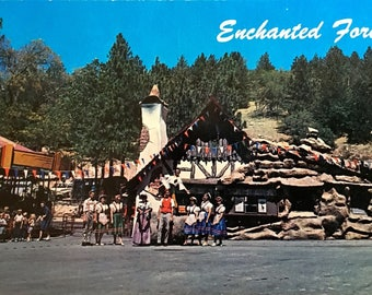 Vintage Postcard of Enchanted Forest in Running Springs California Pristine