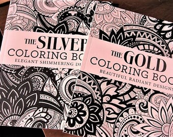 The Gold & Silver Coloring Books (2 Books)