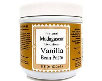 Vanilla Bean Paste, Natural Madagascar 16 oz, by LorAnn