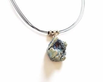 Metallic Geode Necklace