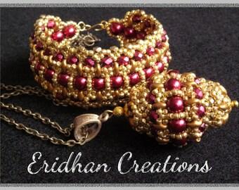 "Beaded bracelet and pendant - ""Byzantine"" - tutorial"